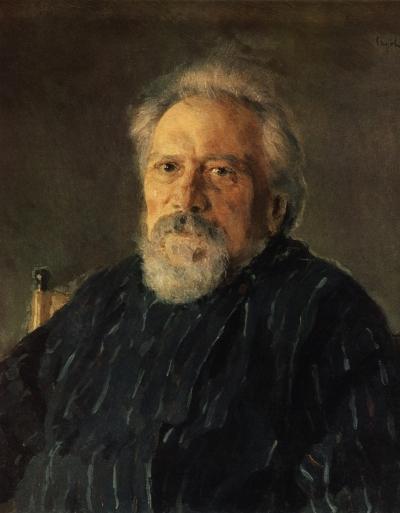 Портрет Николая Лескова работы Валентина Серова, 1894 год.