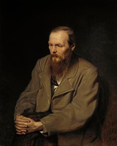 Портрет Ф.М. Достоевского работы Василия Перова, 1872 г.