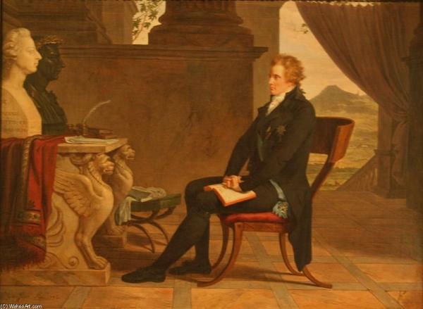 художник Луи Гофье.  Портрет графа Морица Армфельта Армфельта во Флоренции