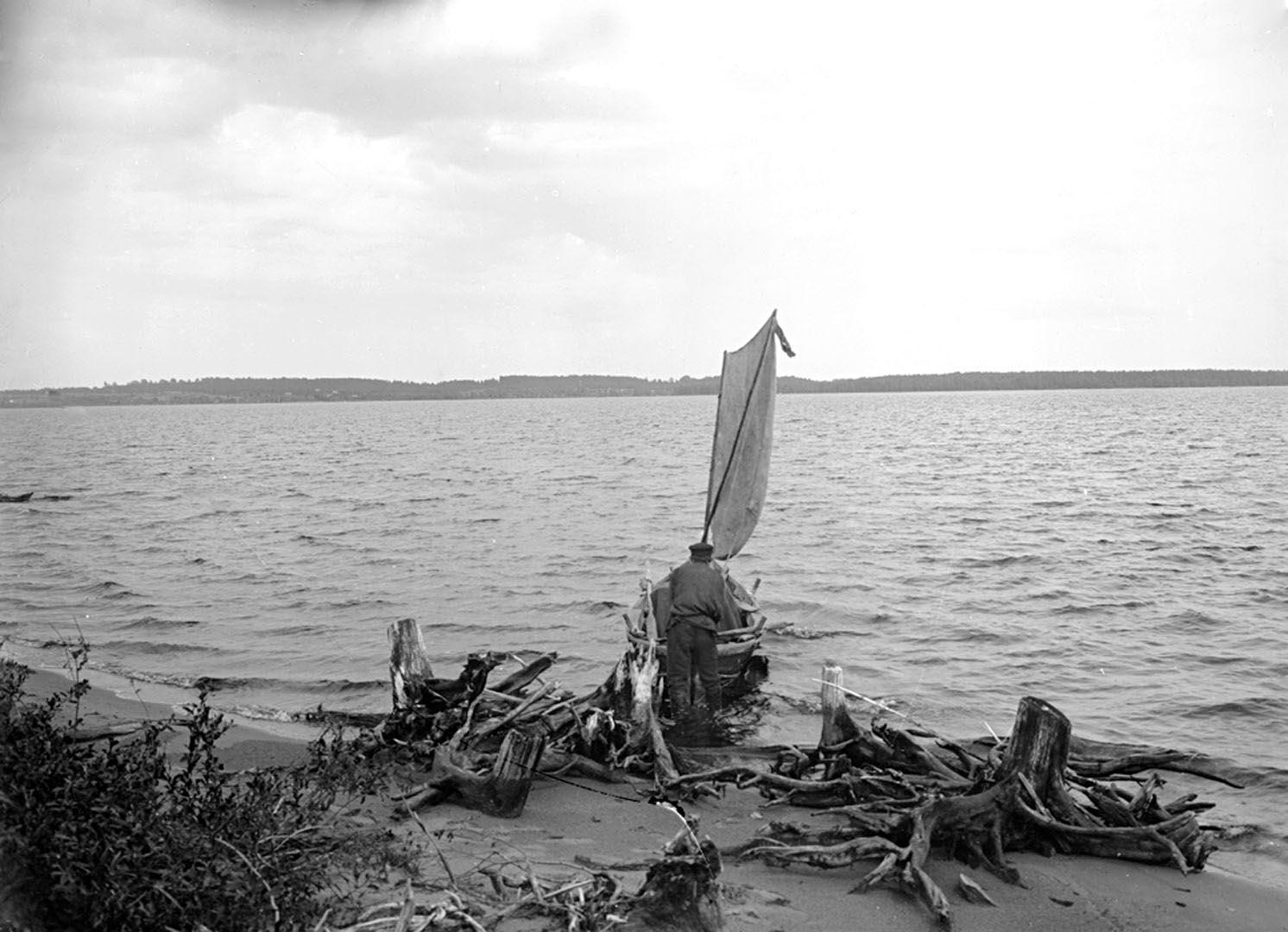 25Вид реки Волги и озера Волго. 1903 г. озеро Волго, Тверская губерния