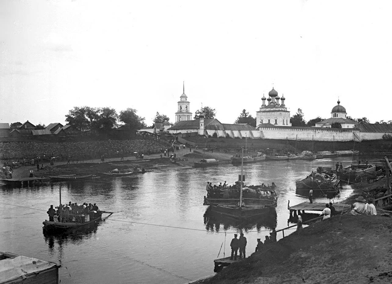 69Паром через реку Волгу. 1903 г. Тверская губерния