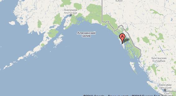 Остров Ситка на карте