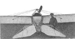 Самолёт  Нестерова без вертикального оперения