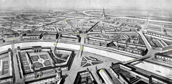 На схеме: 1. Киевский вокзал