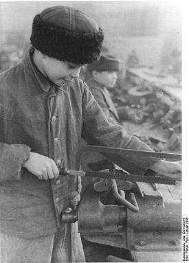 14-летний украинец-остарбайтер. Фото 1945 года.
