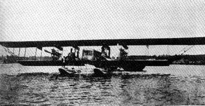 Илья Муромец (тип Б) на поплавках в акватории Либавской военно-морской базы на Балтийском море