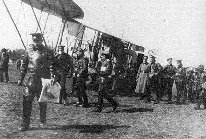 Илья Муромец - Киевский возвращается в Яблонну после боевого вылета над территорией Восточной Пруссии 31 марта 1915 г
