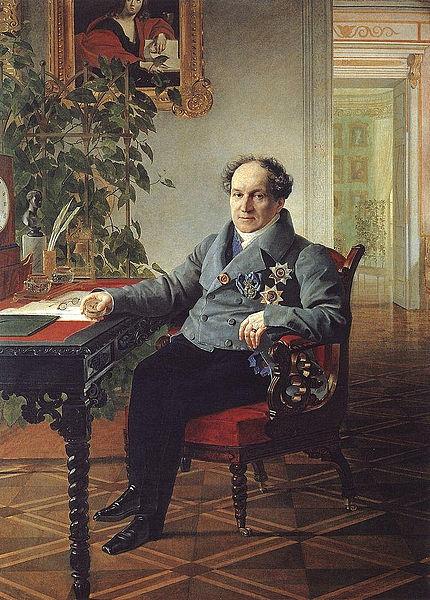 Александр Николаевич Голицын. Портрет работы К. Брюллова. 1840 г.
