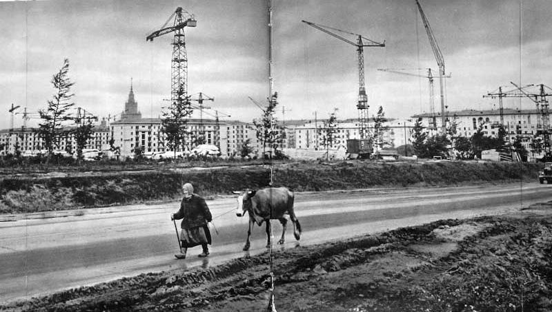 На Ленинском проспекте, у нынешней улицы Строителей. Просто деревни на юго-западе столицы, имевшие свой уклад жизни, ещё сохранялись.